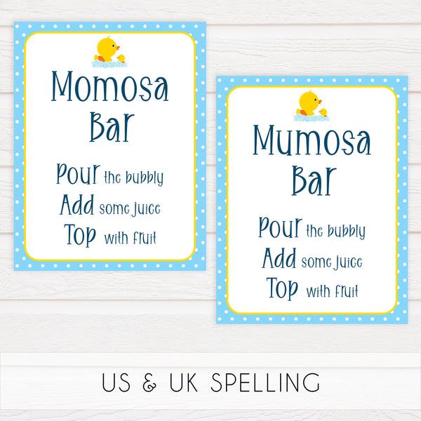 rubber ducky baby signs, momosa baby signs, printable baby signs, baby decor, fun baby decor, rubber ducky