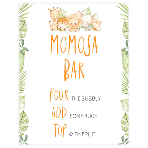 momosa baby shower table sign, Safari animals baby decor, printable baby table signs, printable baby decor, baby safari animals table signs, fun baby signs, baby safari animals fun baby table signs