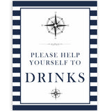 Drinks Sign - Nautical