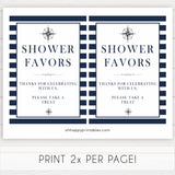 nautical baby shower signs, favors baby shower signs, printable baby shower signs, ahoy its a boy signs, fun baby signs