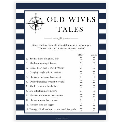 old wives tales game, old wives tales baby, Printable baby shower games, nautical baby shower games, nautical baby games, fun baby shower games, top baby shower ideas