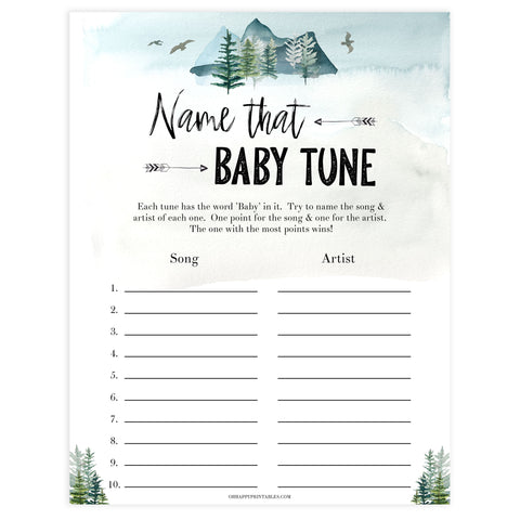 name that baby tune game, Printable baby shower games, adventure awaits baby games, baby shower games, fun baby shower ideas, top baby shower ideas, adventure awaits baby shower, baby shower games, fun adventure baby shower ideas