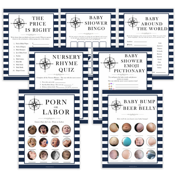 7 baby shower games, baby shower games bundles, Nautical baby shower games, baby shower games, printable baby shower games, baby shower games, fun baby games, ahoy its a boy, popular baby shower games, sailor baby games, boat baby games