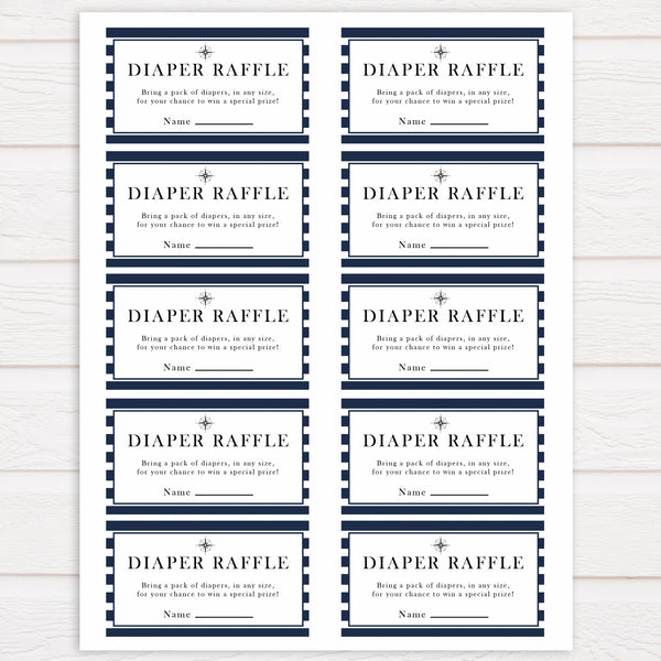 Nautical baby shower games, diaper raffle baby shower games, printable baby shower games, baby shower games, fun baby games, ahoy its a boy, popular baby shower games, sailor baby games, boat baby games