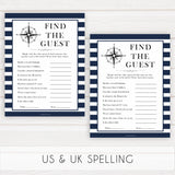 Nautical baby shower games, find the guest baby shower games, printable baby shower games, baby shower games, fun baby games, ahoy its a boy, popular baby shower games, sailor baby games, boat baby games