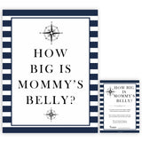 Nautical baby shower games, how big is mommys belly baby shower games, printable baby shower games, baby shower games, fun baby games, ahoy its a boy, popular baby shower games, sailor baby games, boat baby games