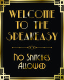 Welcome to speakeasy party printable signs