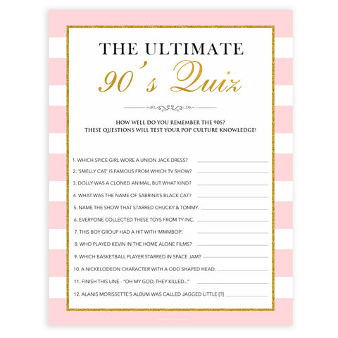 parisian bachelorette games, ultimate 90s quiz game, bridal shower games, naughty bridal games, dirty bachelorette games, top bridal games, fun bachelorette games, best bridal games