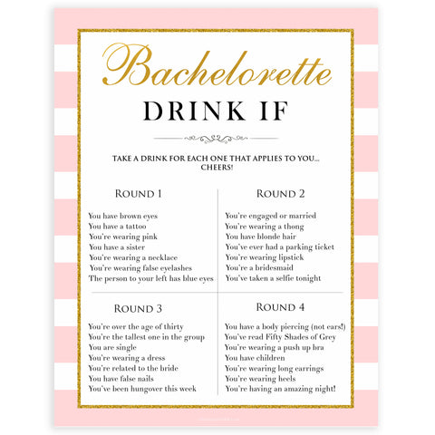 parisian bachelorette games, drink if game, bridal shower games, naughty bridal games, dirty bachelorette games, top bridal games