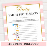 parisian bachelorette games, dirty emoji pictionary game, bridal shower games, naughty bridal games, dirty bachelorette games, top bridal games