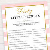 parisian bachelorette games, dirty little secrets game, bridal shower games, naughty bridal games, dirty bachelorette games, top bridal games, fun bachelorette games, best bridal games