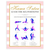 parisian bachelorette games, kama sutra, sex positions game, bridal shower games, naughty bridal games, dirty bachelorette games, top bridal games