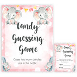 pink elephant baby games, candy guessing game baby shower games, printable baby shower games, baby shower games, fun baby games, popular baby games, pink baby games