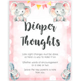 pink elephant baby games, diaper thoughts baby shower games, printable baby shower games, baby shower games, fun baby games, popular baby games, pink baby games