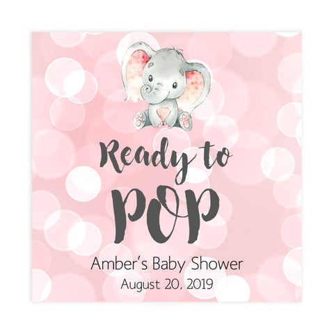 Ready to pop tags, Printable baby shower games, fun abby games, baby shower games, fun baby shower ideas, top baby shower ideas, pink elephant baby shower, pink baby shower ideas