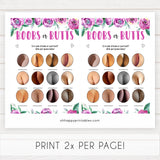 Purple peonies boobs or butts baby shower games, printable baby shower games, fun baby shower games, baby shower games, popular baby shower games, floral baby shower games, purple baby shower themes