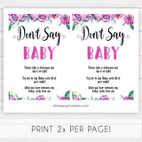 Purple peonies dont say baby baby shower games, printable baby shower games, fun baby shower games, baby shower games, popular baby shower games, floral baby shower games, purple baby shower themes