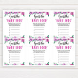 Purple peonies guess the baby food baby shower games, printable baby shower games, fun baby shower games, baby shower games, popular baby shower games, floral baby shower games, purple baby shower themes