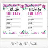 Purple peonies wishes for the baby baby shower games, printable baby shower games, fun baby shower games, baby shower games, popular baby shower games, floral baby shower games, purple baby shower themes