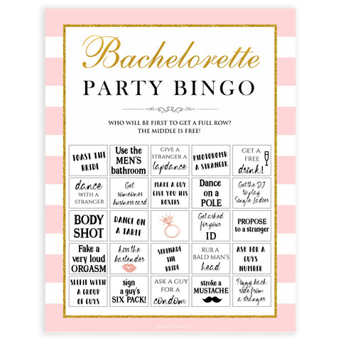 paris bachelorette games, party bingo, bachelorette bingo, dirty bingo, top bridal games, fun bachelorette games, top 10 bridal games