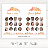 Fall pumpkin baby games, porn or labor game, labor or porn, printable baby games, fall baby shower, pumpkin baby shower, autumnal baby games, top 10 baby games, best baby games