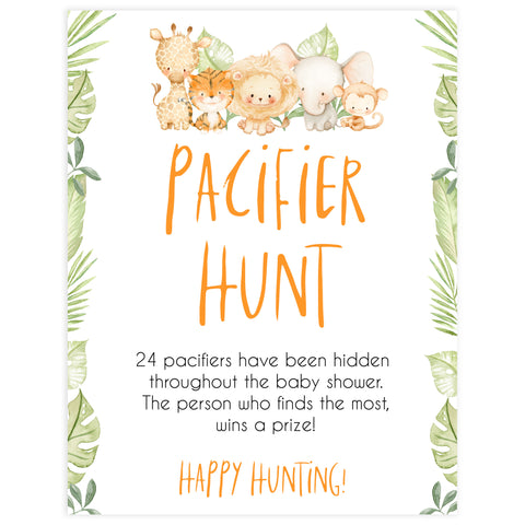 pacifier hunt game, Printable baby shower games, safari animals baby games, baby shower games, fun baby shower ideas, top baby shower ideas, safari animals baby shower, baby shower games, fun baby shower ideas