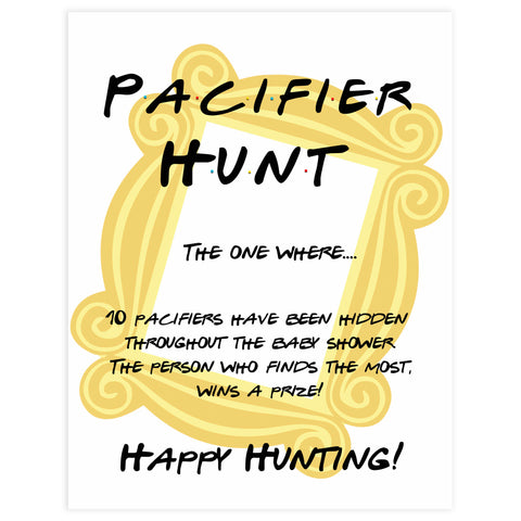 pacifier hunt baby game, Printable baby shower games, friends fun baby games, baby shower games, fun baby shower ideas, top baby shower ideas, friends baby shower, friends baby shower ideas