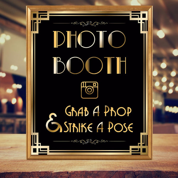 Grab a Prop Strike a Pose Gatsby Photo booth