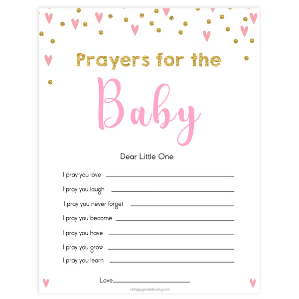 prayers for baby keepsake, popular baby shower games, free baby shower games, printable baby shower games, pink baby games, fun baby games