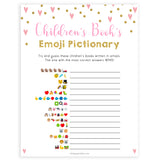 pink hearts baby shower, childrens books emoji pictionary baby game, printable baby games, pink baby games, girl baby games, top 10 baby games, fun baby games