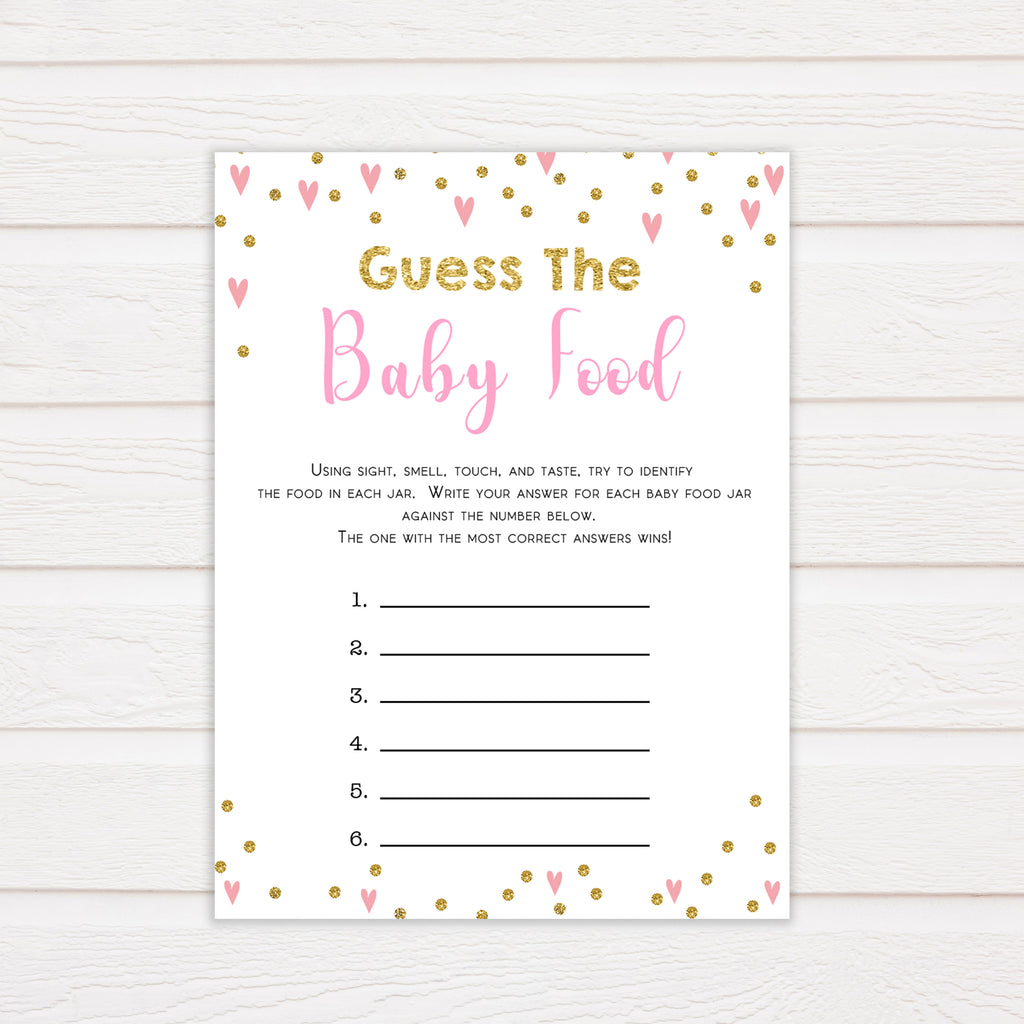 image relating to Guess the Baby Food Game Printable titled Bet The Boy or girl Food items Video game - Crimson Hearts Youngster Shower Video games