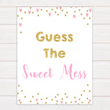 pink hearts baby shower, guess the sweet mess baby game, printable baby games, pink baby games, girl baby games, top 10 baby games, fun baby games