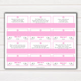 Pink Swash 24 What Am I Innuendo Baby Shower Games, Innuendo Riddle Baby Shower Games, What Am I Games, Pink Adult Printable Baby Shower, printable baby shower games, fun baby shower games, popular baby shower games