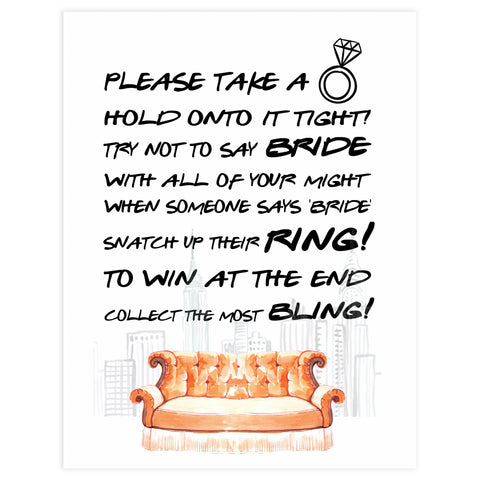 please take a ring game, bridal take a ring game, Printable bridal shower games, friends bridal shower, friends bridal shower games, fun bridal shower games, bridal shower game ideas, friends bridal shower