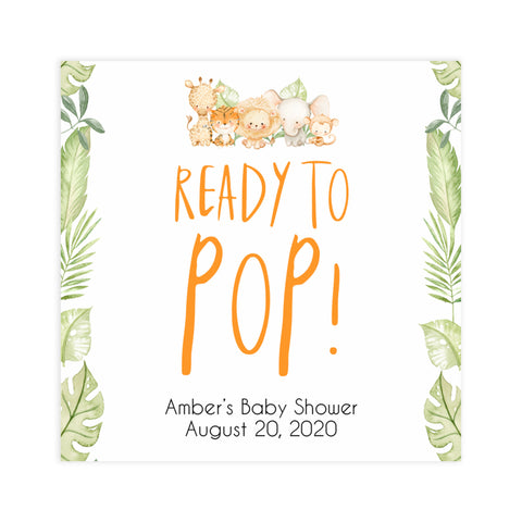 ready to pop baby tags, baby pop tags, Printable baby shower games, safari animals baby games, baby shower games, fun baby shower ideas, top baby shower ideas, safari animals baby shower, baby shower games, fun baby shower ideas