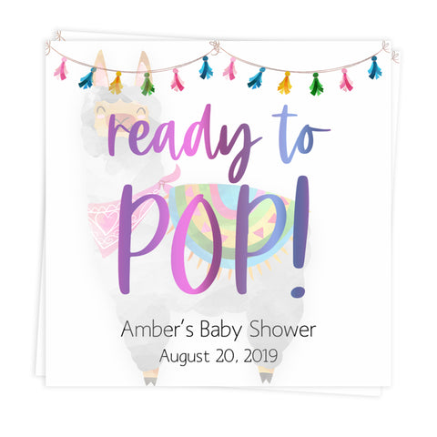 ready to pop tags, baby pop tags, Printable baby shower games, llama fiesta fun baby games, baby shower games, fun baby shower ideas, top baby shower ideas, Llama fiesta shower baby shower, fiesta baby shower ideas