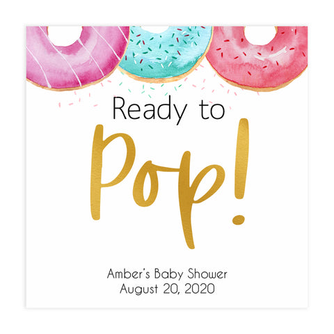 ready to pop tags, Printable baby shower games, donut baby games, baby shower games, fun baby shower ideas, top baby shower ideas, donut sprinkles baby shower, baby shower games, fun donut baby shower ideas