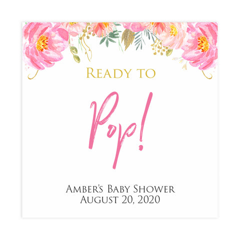 Ready to pop tags, baby pop tags, Printable baby shower games, blush floral fun baby games, baby shower games, fun baby shower ideas, top baby shower ideas, blush baby shower, blue baby shower ideas