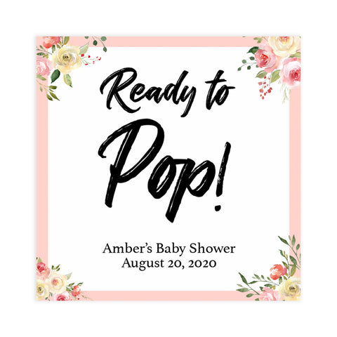 ready to pop tags, pop tags, Printable baby shower games, floral fun baby games, baby shower games, fun baby shower ideas, top baby shower ideas, floral baby shower, blue baby shower ideas