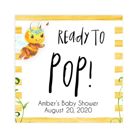 ready to pop tags, pop baby tags, Printable baby shower games, mommy bee fun baby games, baby shower games, fun baby shower ideas, top baby shower ideas, mommy to bee baby shower, friends baby shower ideas