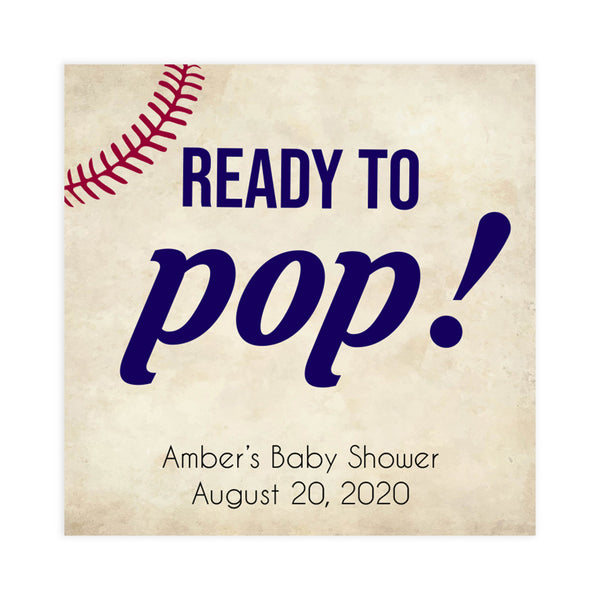 ready to pop baby tags, ready to pop, baby tags, Baseball baby shower games, printable baby shower games, fun baby shower games, top baby shower ideas, little slugger baby games