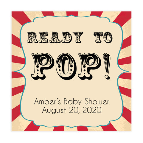 circus ready to pop tags, pop baby shower tags, Printable baby shower games, circus fun baby games, baby shower games, fun baby shower ideas, top baby shower ideas, carnival baby shower, circus baby shower ideas