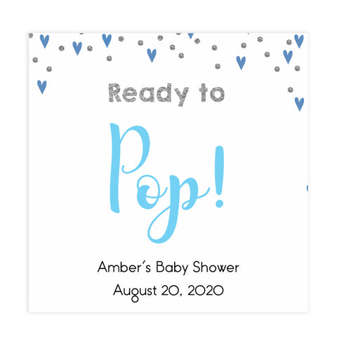 ready to pop tags, pop tags, Printable baby shower games, small blue hearts fun baby games, baby shower games, fun baby shower ideas, top baby shower ideas, silver baby shower, blue hearts baby shower ideas