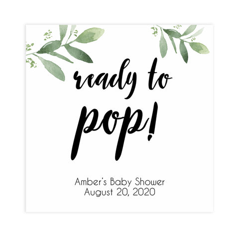 ready to pop tags, Printable baby shower games, botanical baby shower games, floral baby shower ideas, fun baby shower ideas