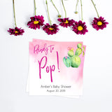 Cactus baby games, ready to pop tags, popcorn tags, printable baby shower games, Mexican baby shower, fun baby games, top baby games, best baby games, baby shower games