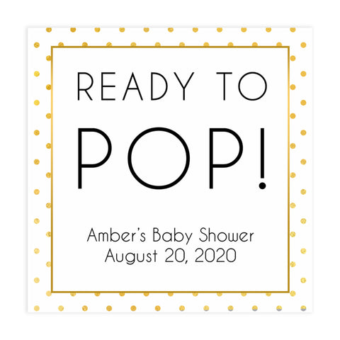 ready to pop baby tags, Printable baby shower games, baby gold dots fun baby games, baby shower games, fun baby shower ideas, top baby shower ideas, gold glitter shower baby shower, friends baby shower ideas