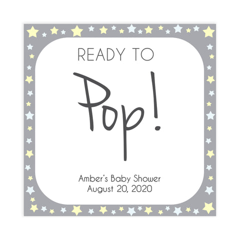 Printable baby signs, baby pop tags, baby shower tags, yellow and grey stars, printable baby shower signs, top baby shower decor, baby printable decor