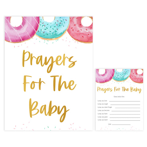 prayers for the baby game, Printable baby shower games, donut baby games, baby shower games, fun baby shower ideas, top baby shower ideas, donut sprinkles baby shower, baby shower games, fun donut baby shower ideas