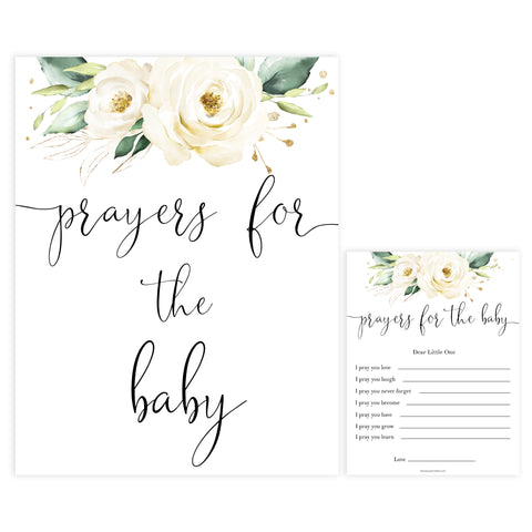 prayers for the baby game, Printable baby shower games, shite floral baby games, baby shower games, fun baby shower ideas, top baby shower ideas, floral baby shower, baby shower games, fun floral baby shower ideas
