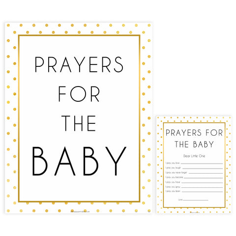 prayers for the baby game, Printable baby shower games, baby gold dots fun baby games, baby shower games, fun baby shower ideas, top baby shower ideas, gold glitter shower baby shower, friends baby shower ideas